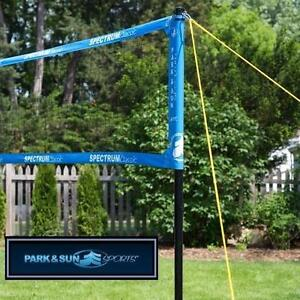 NEW PARKSUN CLASSIC VOLLEYBALL NET BLUE - SPECTRUM CLASSIC - PROFESSIONAL 3' x 32' - TELESCOPING POLES 107376628