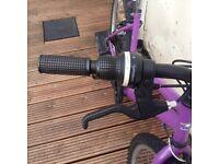 Girls push bike