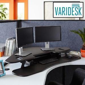 """NEW VARIDESK CORNER STANDING DESK - 129042559 - 48"""" BLACK"""
