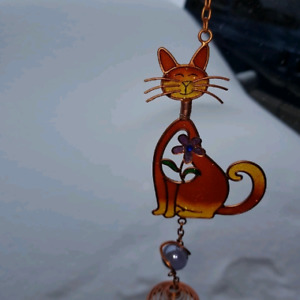 Cat/kitty & Butterfly Wind Chimes