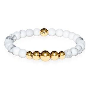 50% OFF All Jewellery - Virtuous   Gold Aura White Turquoise Bracelet