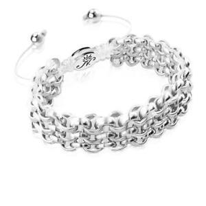 50% OFF All Jewellery - Silver Kismet Links   WhiteBracelet