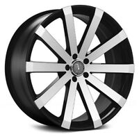 20inch black and machine wheels with tires!! Model#V12. sts, mkz