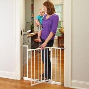 North States Supergate Easy Close Metal Gate, White (4910s)