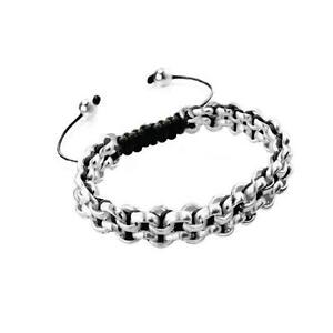 50% OFF All Jewellery - Silver Kismet Links | Black | MiniBracelet