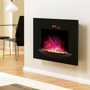 Adjustable 1500 W Electric Fireplace w/ Wall Mount / Fire Place