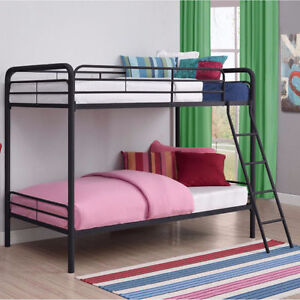 BRAND NEW!! TWIN OVER TWIN ELEGANCE METAL BUNK BED ON CLEARANCE