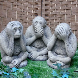 Stone Wise Monkeys - Set of 3 - Fun Christmas Gift