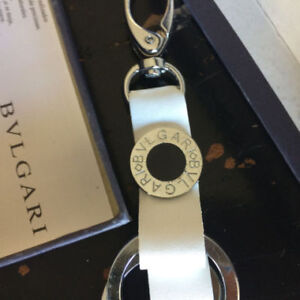 BVLGARI White Leather Key chain - Bulgari