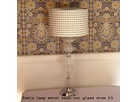 Table lamps just £1 each