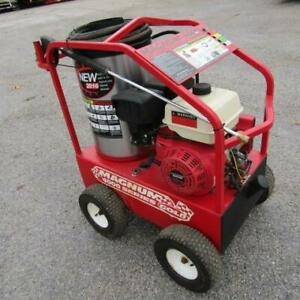 Hot water power washer