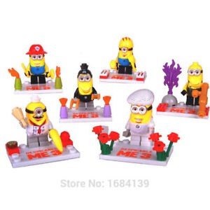 Minions character 6 pack, Lego compatible