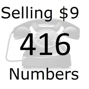 For Sale: From $9 -Easy 416 Area Phone Numbers -VIP,Vanity,Rare