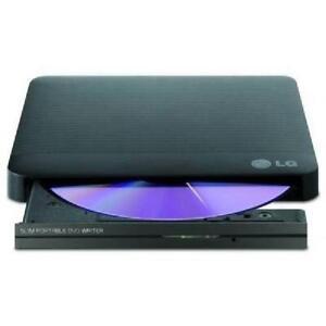 LG Super-Multi Portable DVD Rewriter with M-DISC - USB 2.0 -  Bl