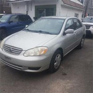 *******PROMOTION COROLLA 2003 FULL EQUIPE SEULEMENT 2599$******