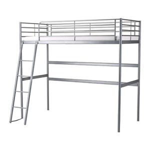 Ikea Loft bed - Frame and mattress