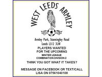 PLAYERS WANTED - WEST LEEDS ARMLEY - COMBINATION LEAGUE 2