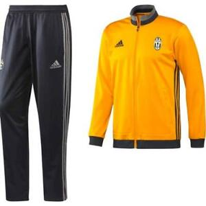 Adidas Juventus Tracksuit Yellow Grey 2016-17 Mens L New NWT