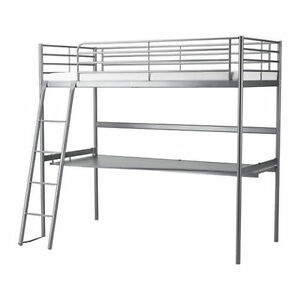 Ikea bunk bed w/desk