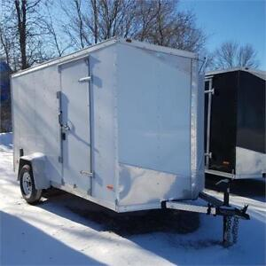 """2019 RC Trailers 6 X 12 Enclosed V Nose 6'6"""" Interior Height"""