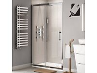 Brand new in box sliding Shower door 1000mm 8mm glass