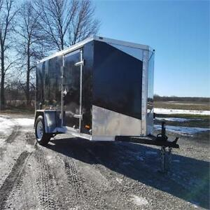 2019 RC Trailers 5 X 10 Enclosed V Nose w/ Ramp Door