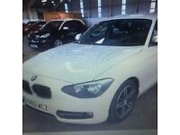 BMW 1 SERIES 2.0 118D SPORT 5d 141 BHP (white) 2012