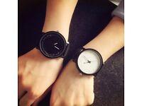 CLAUDIA Unisex Fashion PU Leather Quartz Watch