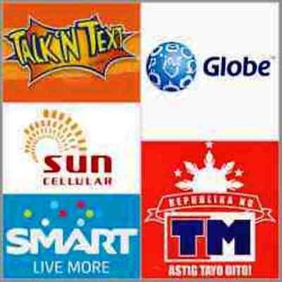 Smart, Globe, Sun, TM, Talk N Text P100 Prepaid eLoad