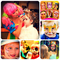KIDS PARTY ENTERTAINER FACE PAINTING BALLOONS BUBBLE SHOW