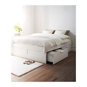 Brimnes Ikea double/full bed with slats