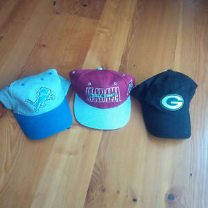 3x Brand new football hats / caps / lids - NFL (Budweiser) NCAA Kitchener / Waterloo Kitchener Area image 1
