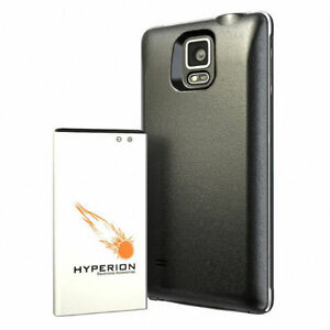 8000mah Samsung Galaxy Note 4 Extended Battery Hyperion + case