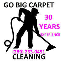 GO BIG CARPET CLEANING 30 YEARS EXPERIENCE CALL NOW