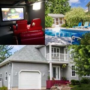 Large room for rent heated pool and theatre