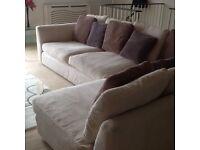 Lovely cream corner sofa