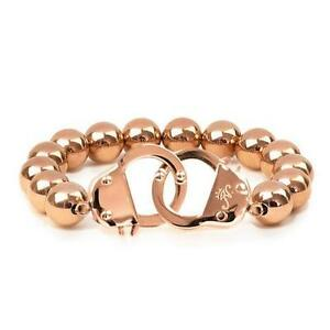 50% OFF All Jewellery - 18k Rose Gold | Beaded Cuff Bracelet