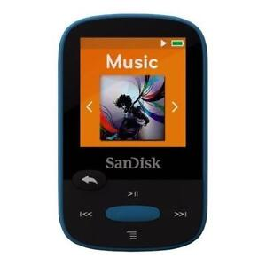 SanDisk Clip Sport MP3 Player - 8GB - Blue