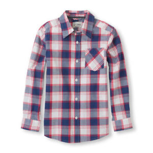 SIZE 6 - TCP Plaid Button Down Shirt (LIKE-NEW)