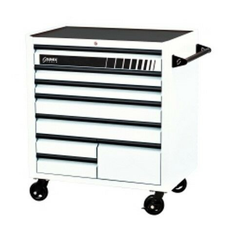 "Premium 8 Drawer Service Carts (41""W x 24""D x 42""H) - White SUN8060WH New!"