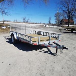 2018 ED Trailers 6.5' X 12' Galvanized Utility w/ ATV Ramps