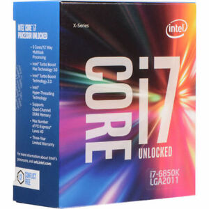 Intel Core i7-6850K Processor (15M Cache, up to 3.80 GHz)
