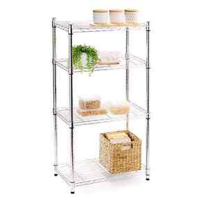 Chrome 4 Tier Shelf Storage Solution. Warabrook Newcastle Area Preview