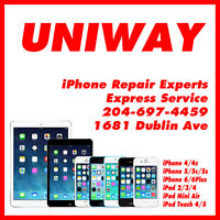 UNIWAY iPhone Repairs 4,4s,5,5c,5s,6,6+ & iPad 2,3,4,mini,air