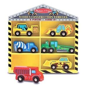 Brand New - Melissa & Doug - Wooden Construction Vehicles