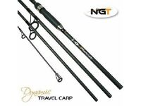 Carp Travel Rod Dynamic 11ft 4 Pc Fishing Rod Carbon 2.75tc NEW