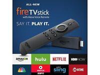 AMAZON FIRE STICK, 2ND GEN, ALEXA,KODI 17.6,MOVIES, TV SHOWS, LIVE SPORTS AND MUCH MORE!!!