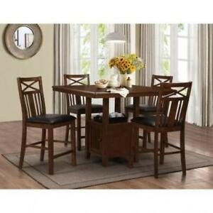 PUB HEIGHT DINNING TABLE SET WITH STORAGE ON SALE ND 112