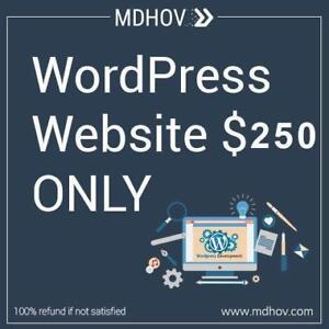 WordPress Website only for 250$. 100% Refund Guarantee