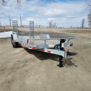 2018 ED Trailers 7' X 18' Galvanized 7 Ton Equipment/Carhauler